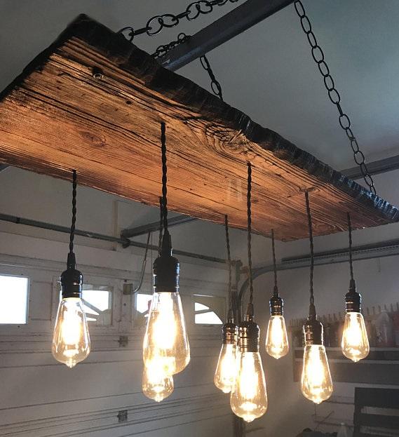 lampa wisząca w stylu eko